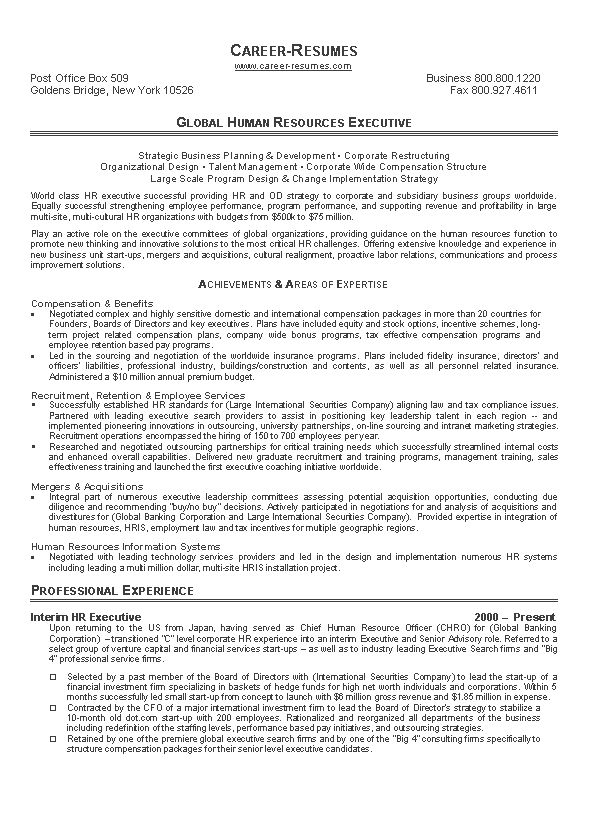 Resume Sample 17 - Human Resources resume - Career Resumes