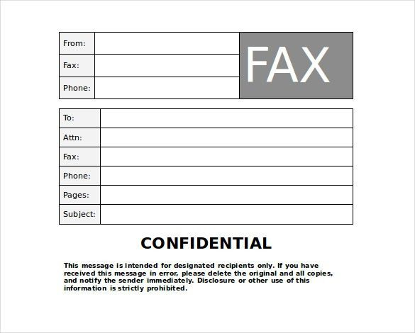 Confidential Fax Cover Sheet – 8+ Free Word, PDF Documents ...