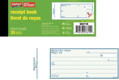 Staples® Receipt Books | Staples®