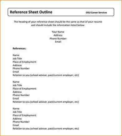 12+ reference sheet template | academic resume template
