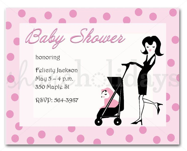 Baby Shower Invitations Format - Party XYZ