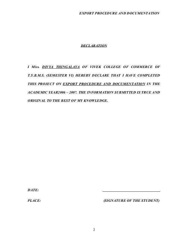 Medeff Report Declaration Indus Form
