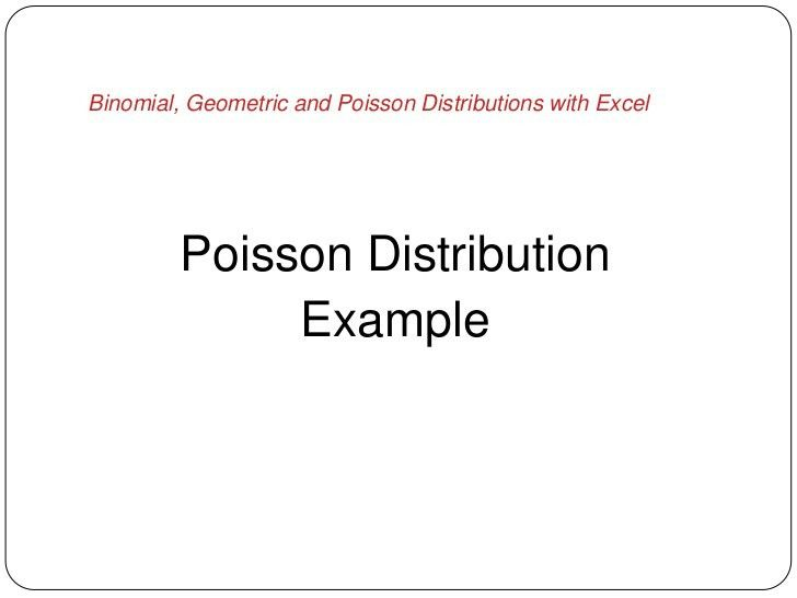 Binomial, Geometric and Poisson distributions in excel