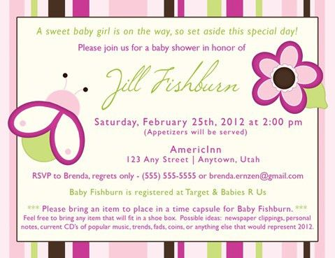 The most viral collection of Example Of Baby Shower Invitation in ...