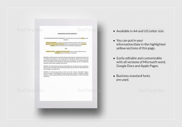 14+ Service Agreement Templates– Free Sample, Example, Format ...