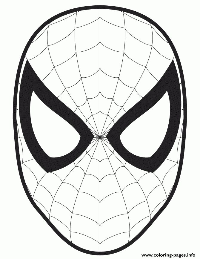 spider man face template cut out colouring page Coloring pages ...