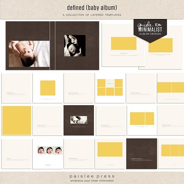 Instant Download - Wedding album template for photographers, 8x12 ...
