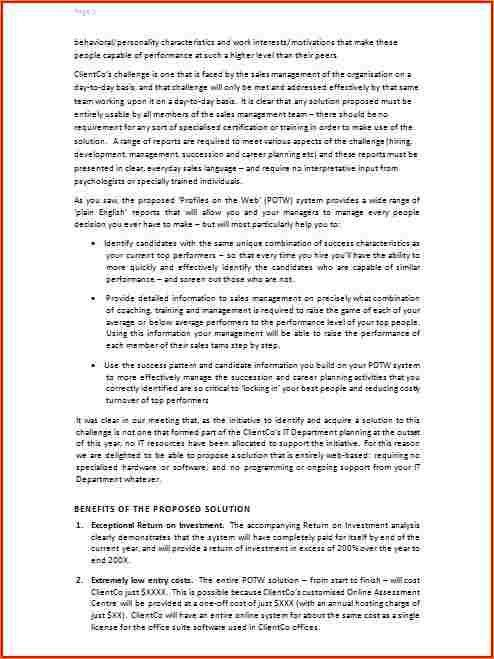 Written proposal template - Business Proposal Templated - Business ...