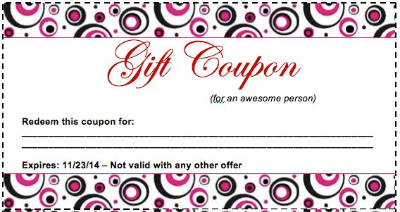 Birthday Coupon Template – Coupon Templates