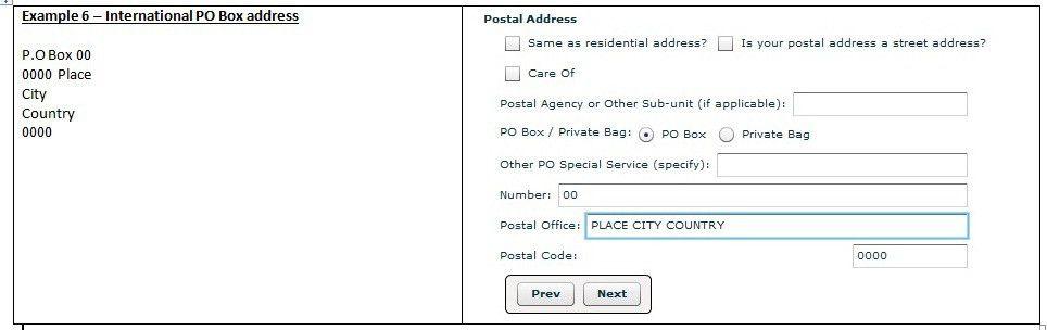 New Postal Address Structure