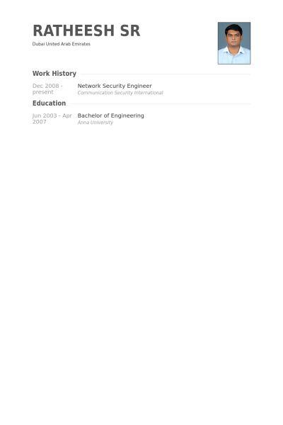 Network Security Engineer CV Örneği - VisualCV Özgeçmiş Örnekleri ...
