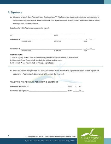 roommate agreement contracts