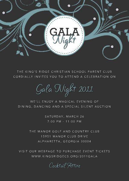 Gala Invitation Samples
