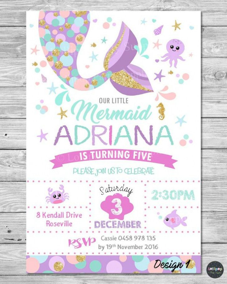 Mermaid Birthday Party Invitations For You | THEWHIPPER.COM