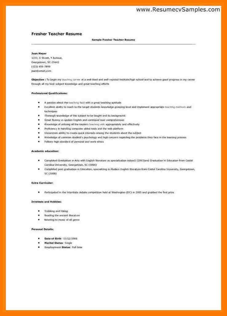 Teachers Resume, 51+ teacher resume templates \\u2013 free sample ...