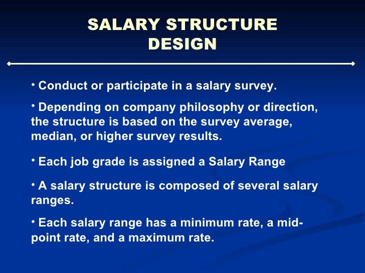 Job Evaluation and Salary Design