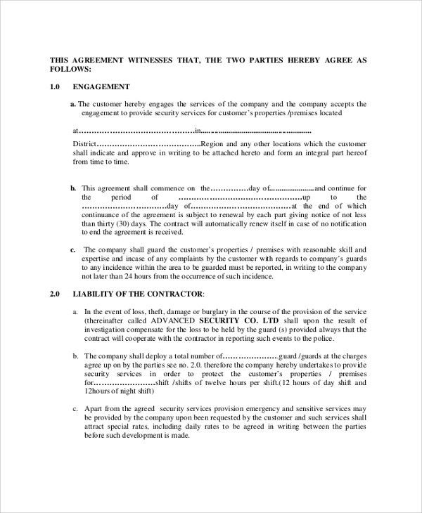 Sample contract agreements between two parties milind – Format Agreement Between Two Parties