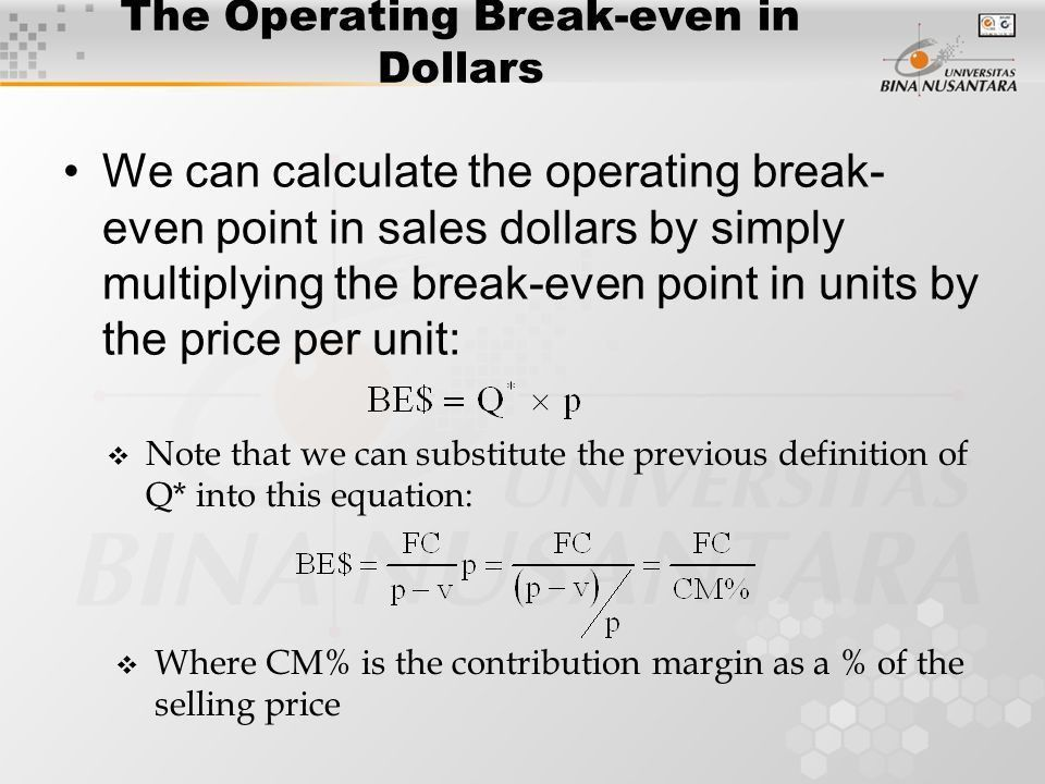 Define Breakeven Analysis, break even define - money used in ...