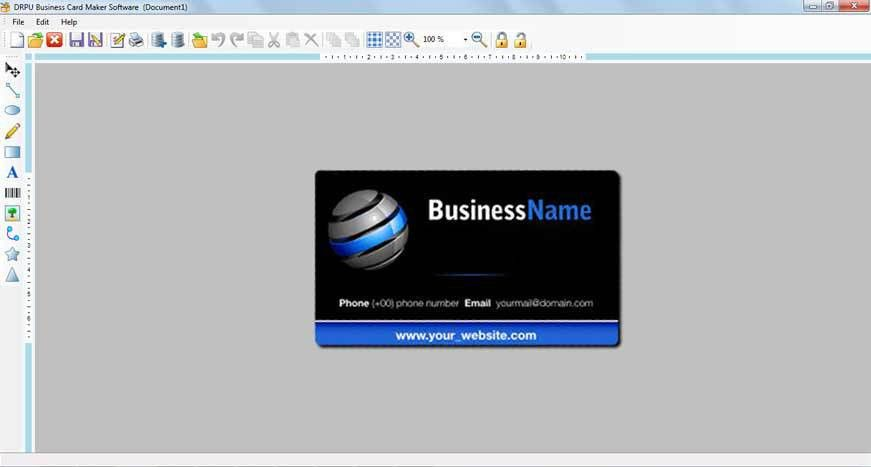 Business card maker software make visiting corporate commercial ...