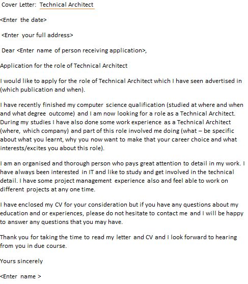 Technical Architect Cover Letter Example - icover.org.uk
