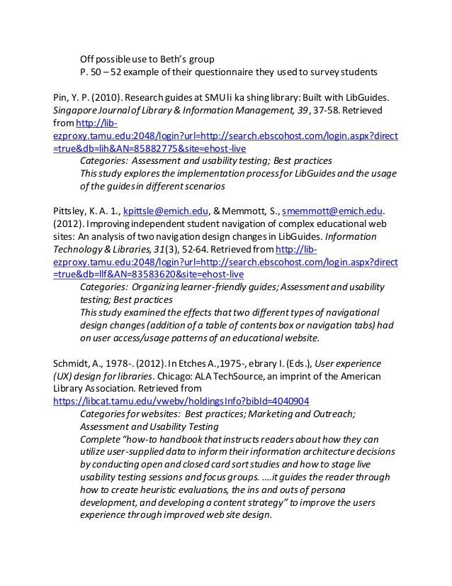 LibGuides Annotated Bibliography by Subject