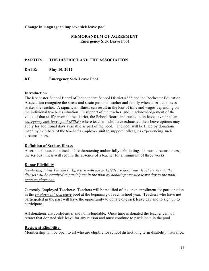 Tentative teachers contract