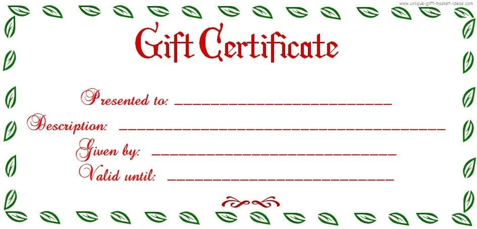 Uses for Gift Certificate Templates | Blank Certificates