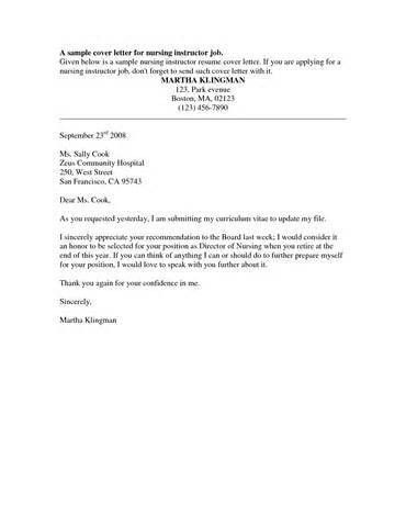 Cover Letter Lpn