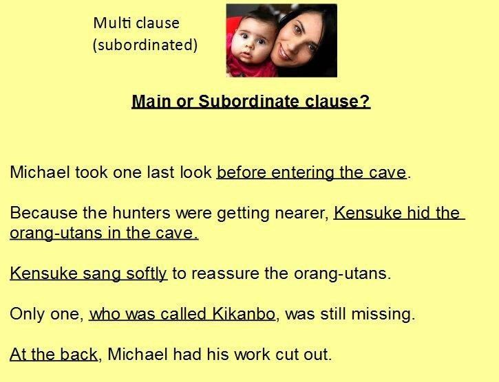 Single and multi clause sentences – an analogy | This is my classroom