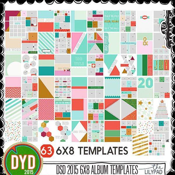 DYD 2015 6x8 Mega Template Album (63 templates) by Just Jaimee