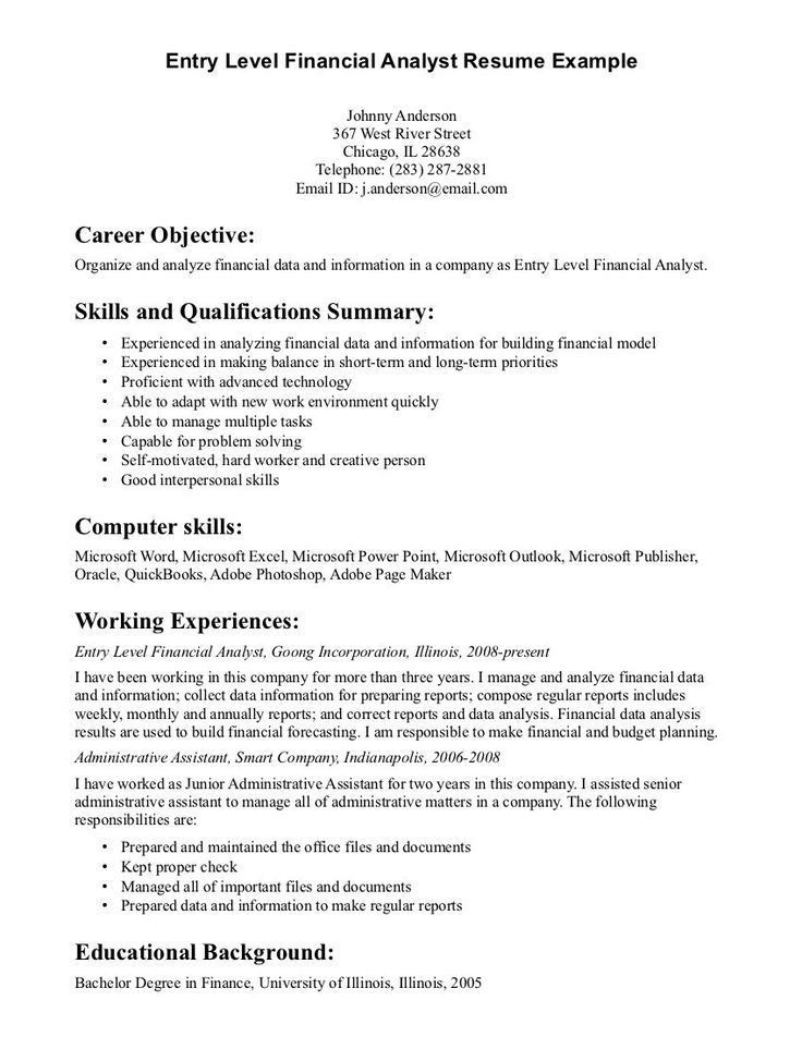 Best 25+ Objective examples for resume ideas on Pinterest | Resume ...