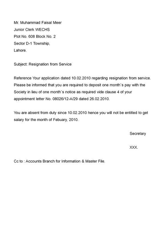 Enticing Regarding Resignation From Service Letters Sample Format ...