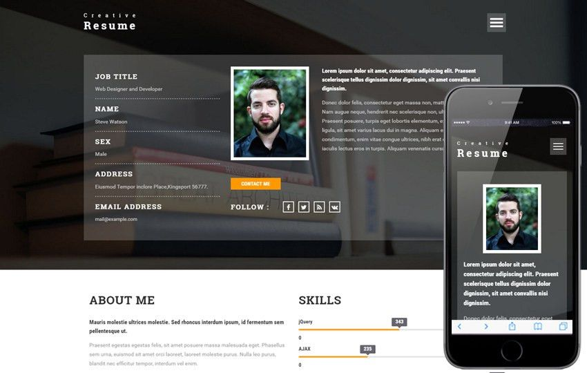 resume templates - w3layouts.com