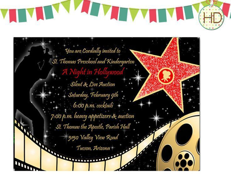 The 25+ best Hollywood invitations ideas on Pinterest | Proms ...