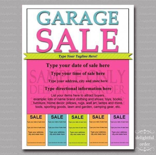 13 Cool Garage Sale Flyers - Printaholic.com