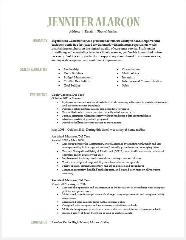 11 best Resume images on Pinterest | Resume examples, Resume ideas ...
