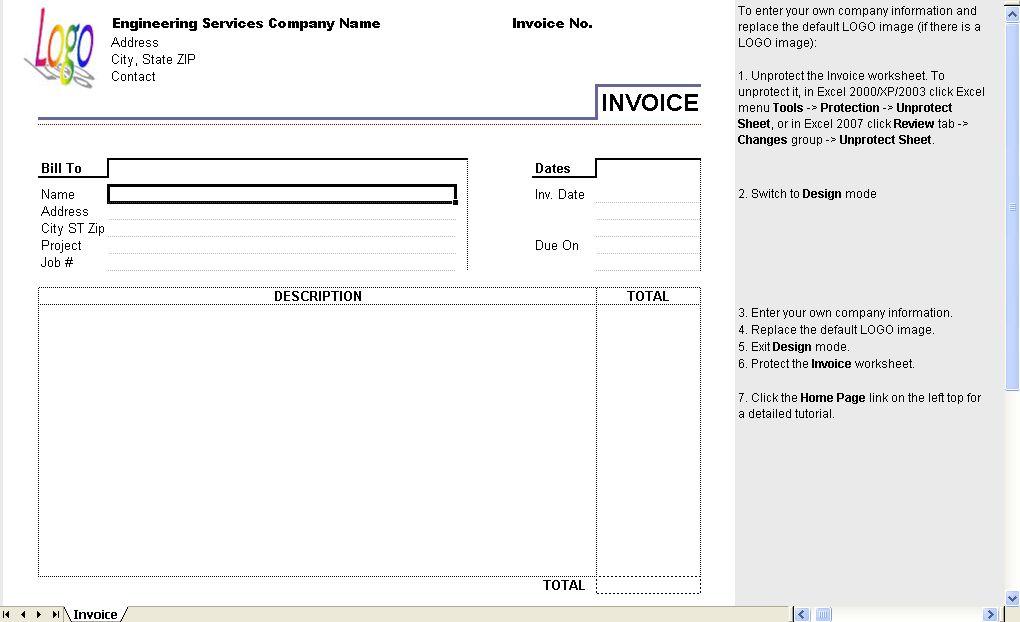 Software Invoice Format Free Software Development Invoice – Service Bill Format