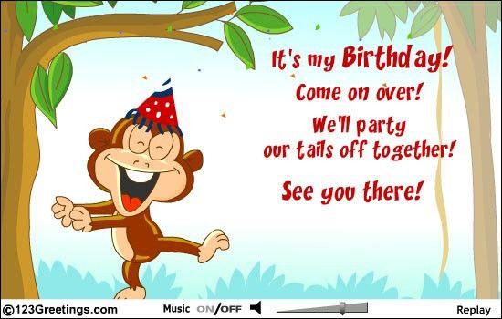 modern sample birthday cards invitation incredible ideas event ...