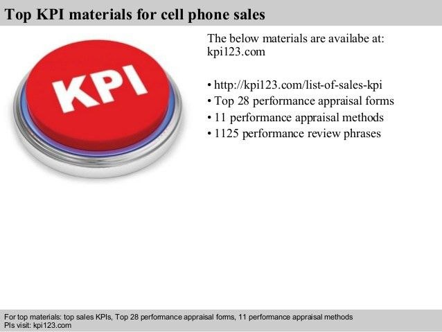 Cell phone sales kpi