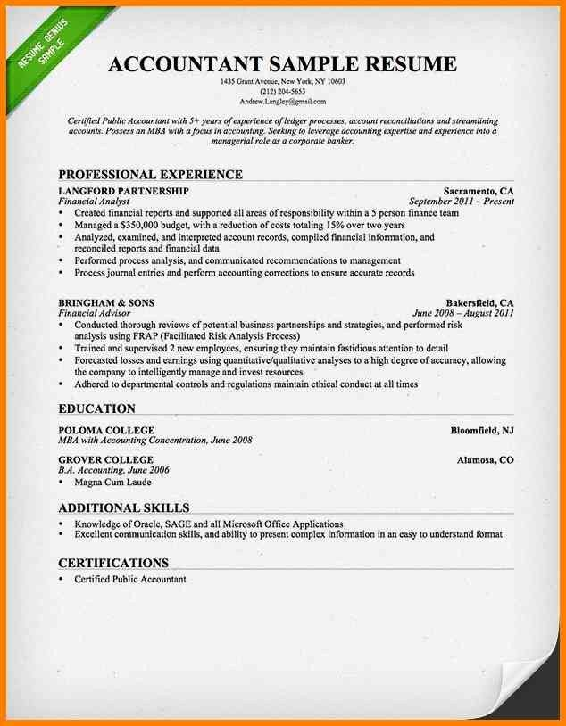 5+ accountant resume format in word | cashier resumes