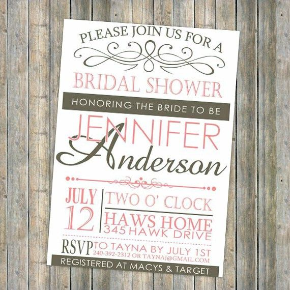 Free Printable Bridal Shower Invitations Template | Best Template ...