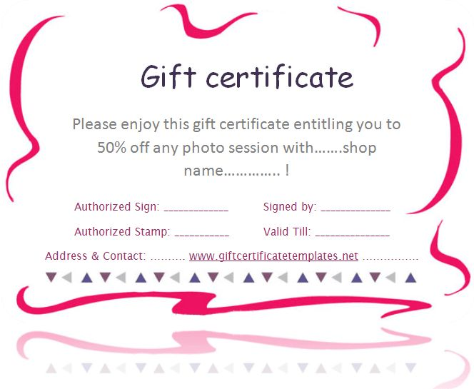 pink-border-gift-certificate-template | Beautiful Printable Gift ...