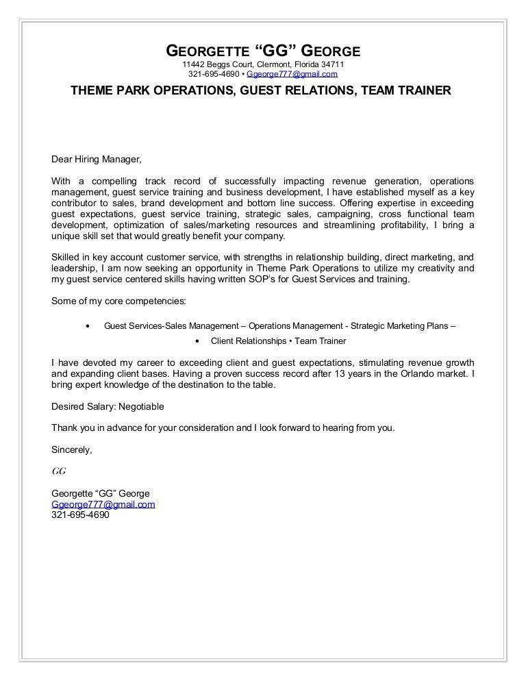 call center trainer cover letter guest service manager sample hr ...