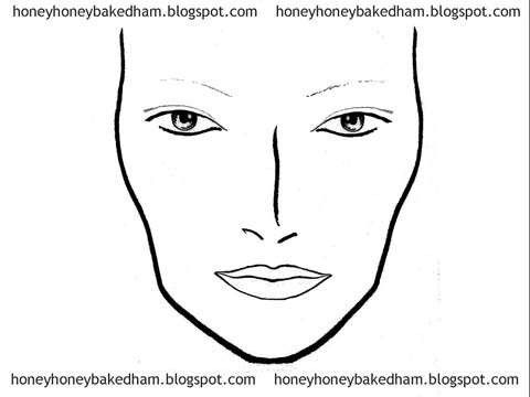 Knickerbocker Printable Permanent Makeup Costs Blank Face Charts ...
