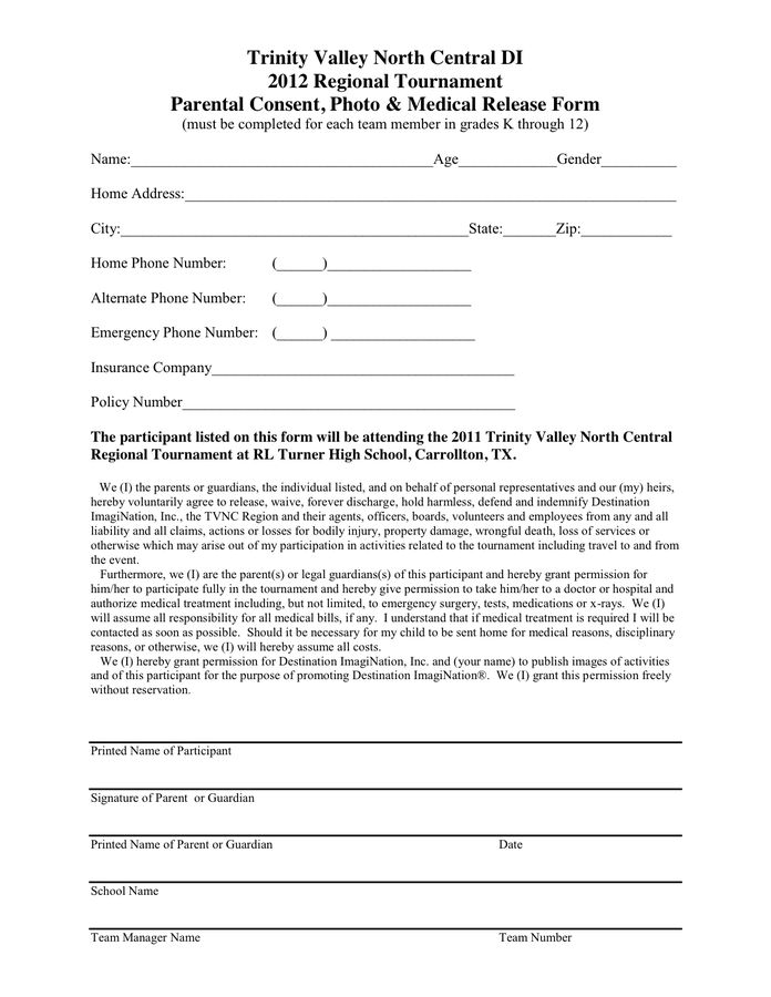 PHOTO U0026 GENERAL RELEASE FORM In Word And Pdf Formats