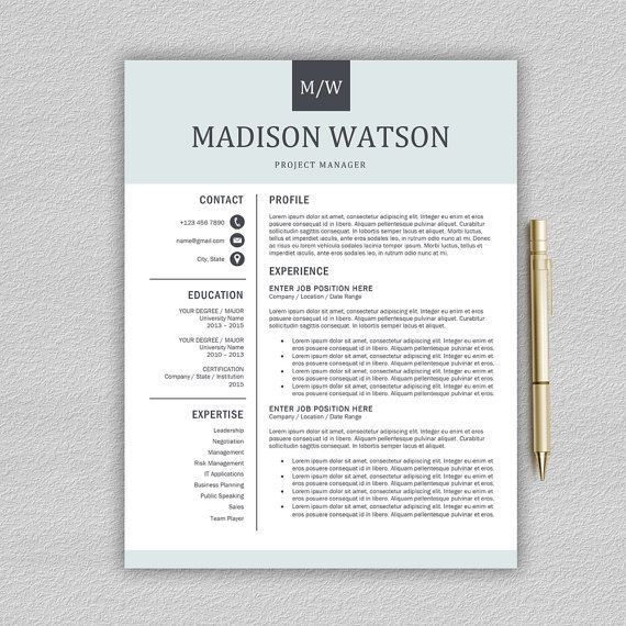 138 best Cv layouts and promotion images on Pinterest | Resume ...
