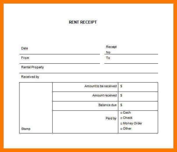 4+ rent receipts sample   park-attendant