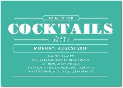 Cocktail Splash - Corporate Event Invitations in Bay | Petite Alma ...