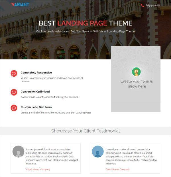 20+ Premium Landing Page Themes & Templates | Free & Premium Templates