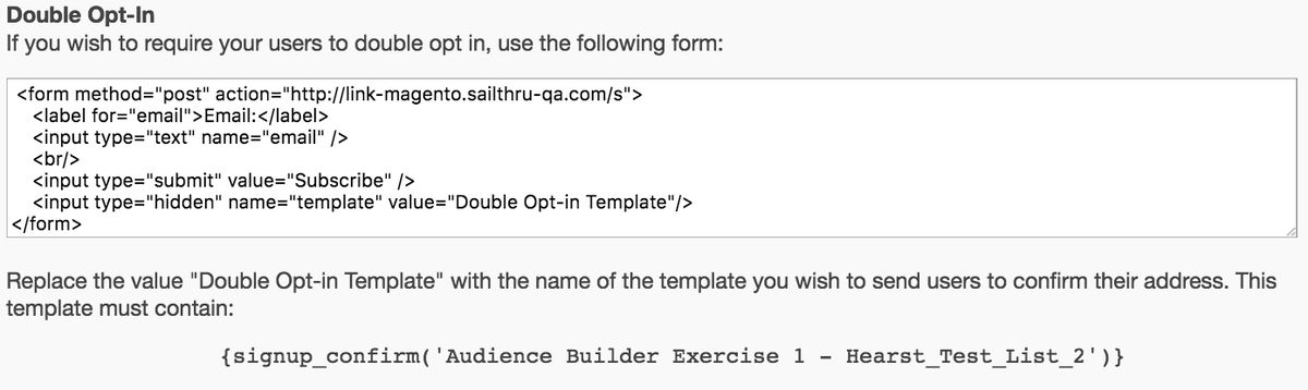 Add Users Using a Signup Form - Sailthru Documentation